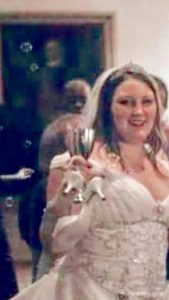 Bride pic edited (poorly by Shannon) by bringing up the brightness and cropping. Is this the same man from the bathroom selfie?